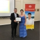 Tania Curley wins Community Service Award for work with Mood Active, here receiving award from Matthew Thistlethwaite MP, Federal Member for Kingsford Smith